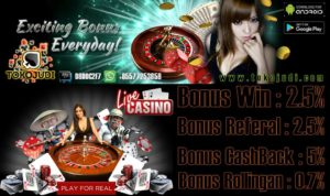 Tokojudi.com Agen Judi Tangkas Online Bonus Referral