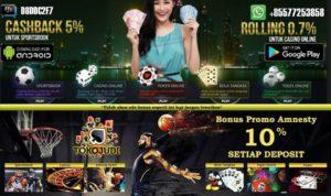 Tokojudi.com Situs Agen Casino Online Bonus Member Baru Terbesar