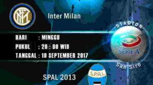 Prediksi Skor Inter Milan vs SPAL 10 September 2017
