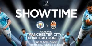 Prediksi Skor Manchester City vs Shakhtar Donetsk 27 September 2017