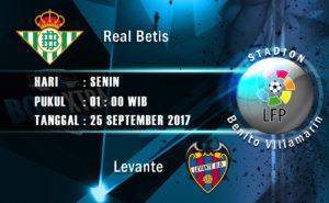 Prediksi Skor Real Betis vs Levante 25 September 2017