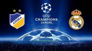 Prediksi Skor APOEL vs Real Madrid 22 November 2017
